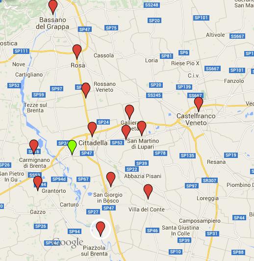 mappa comuni