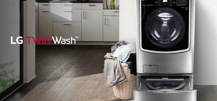 LG Twin Wash lava due bucati contemporaneamente